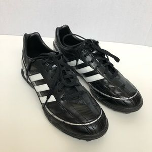 Adidas Shoe Cleats Youth Kids Black White